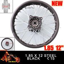 "12"" inch 1.85-12 rear billet rim wheel 125/110cc Dirt Pit Trail Bike Motorbike"