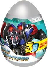 3pcs transformers plastic egg surprise boys Kinder toy party favors candy treats