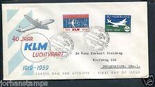 FDC E40 - E 40, KLM, met getypt adres
