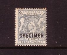 BRITISH EAST AFRICA PROTECTORATE....  1896 1r pale blue mng overprinted SPECIMEN