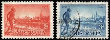 Australia Scott 142-143 (1934) Mint/Used H Vf, Cv $10.25