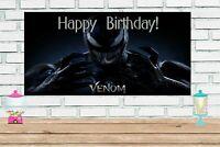 2x4 Venom vinyl Birthday Banner
