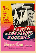 1950's Sci-Fi  *Earth vs The Flying Saucers *   Alternate #2 Movie  Poster 1956