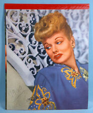 Lucille Ball Movie Star Writing Tablet 1940-50s Glamour Color Photo I Love Lucy