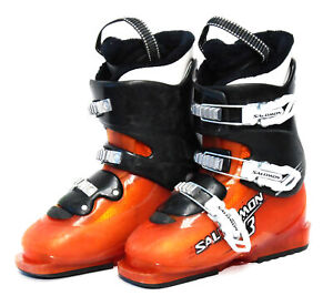 Salomon T3 Junior Ski Boots - Size 4 / Mondo 22 Used