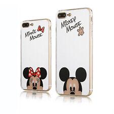 Funda Trasera Para iPhone 7 8 PLUS XR 11 Delgado Tipo Espejo Mickey Minnie