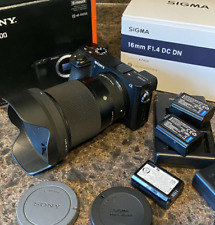 Sony Alpha a6500 24.2MP Mirrorless Camera with Sigma 16mm F/1.4 Lens