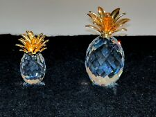 2 Crystal Pineapple's 1 Hallmarked Swarovski the other w/ no markes but nice.