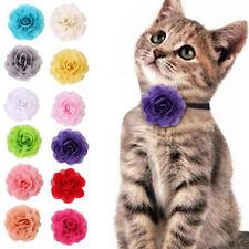 Pet Dog Cat Puppy Flower Collar Neck Strap Adjustable Floral Necklace New