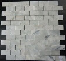 IMPERIAL WHITE(CARRARA) MARBLE SUBWAY MOSAIC TILE