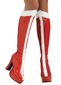 Womens Red Wonder Woman Knee Boots