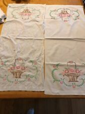 vintage table runners embriodery