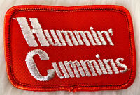 VTG 70s HUMMIN' CUMMINS Diesel Engines Embroidered Patch Sew On Deadstock NOS