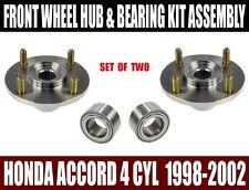 Fits:Honda Accord Front Wheel Hub And Bearing Kit Assy 2.3L 4 CYL 1998-2002 PAIR