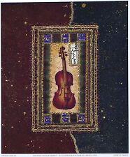 Nicola rabbett violon art contemporain designer taille:23 cm x 19cm env rare