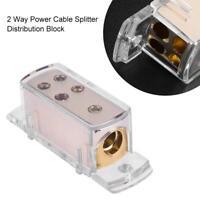 4-Way Car Audio Solar Amp Power Ground Cable Splitter Distribution Block 8WG