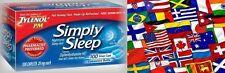 Simply Sleep Nighttime Sleep Aid Tablets 200ct -FREE WORLDWIDE SHIP* Tylenol Pm