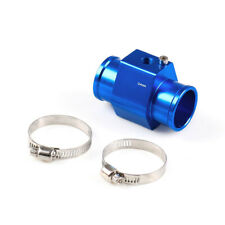 BLUE Water Temp Sensor Temperature Joint Pipe Gauge Radiator Hose Adapter 34MM