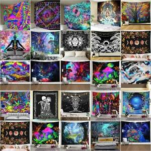 Indian 3D Tapestry Wall Hanging Mandala Hippie Psychedelic Bedspread Throw Cover