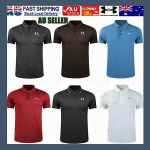 AU 2021 NEW Under Armour Mens UA Golf Sports Polo Shirt Smooth Shirts Tops