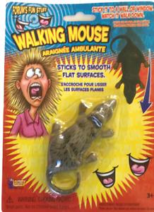 Funny WALKING MOUSE Sticks & Walks Down Wall Fake Prank Joke Rat Toy Scary Crawl