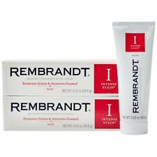 Rembrandt Intense Stain Whitening Toothpaste Mint Flavor 3.52 Ounce 2 Pack