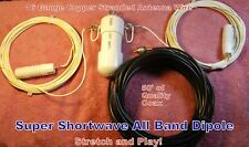 SUPER ALL BAND SWL, SHORTWAVE DIPOLE ANTENNA, Heavy Duty!