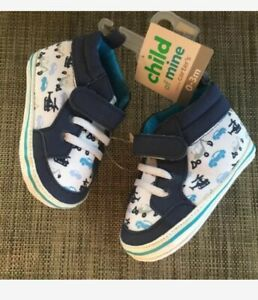 Baby Boy Child of Mine Carter's Crib Shoes Soft Sole Sneakers 0-3 M