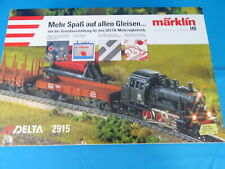 Marklin 2915 Starter Set 90-ies Steamer + 3 Freight Cars + Large 6631Transformer