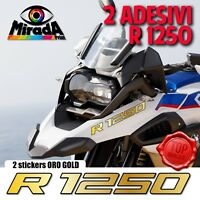 ADESIVI STICKERS AUTOCOLLANT PER BMW GS R 1250  ORO ADVENTURE MOTO RALLY CARENA