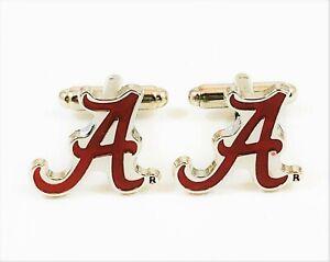 University of Alabama Cufflinks--Crimson Tide NCAA College Roll Big Al Bama