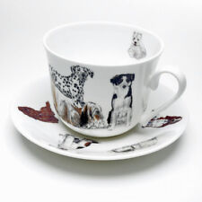 Roy Kirkham Dogs Galore Large 450ml Breakfast Cup & Saucer Bone China Gift New