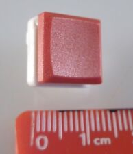 ITT Cannon MDP S NSG Push To Make Button Switch PCB Mount SPST Red Cap OM0783D