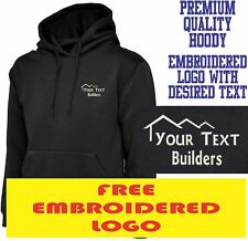 Personalised Embroidered Builder Hoodie Building & Construction Workwear