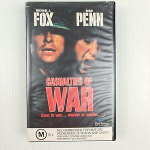 Casualties of War VHS Tape - Michael J Fox - Sean Penn - TRACKED POST