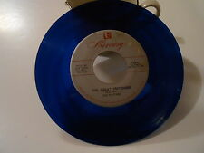 THE PLATTERS   ,THE GREAT PRETENDER   BLUE VINYL 45 RARE OR RCA 70733 VG  SCARCE