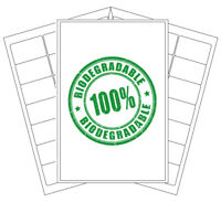 Biodegradable Sticky Labels | Eco Friendly Compostable Stickers | Laser/Inkjet