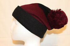 Kate Spade New York Color Block Beanie Navy Blue Wine Pom Knit Hat MSRP $48 NEW