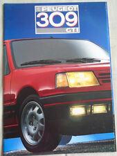 Peugeot 309 GTI GAMA FOLLETO enero 1987 texto en francés