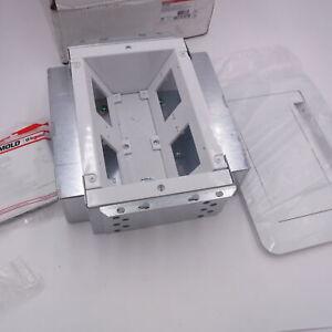 Wiremold Legrand EFSB4 Evolution Series Wall Box Flat Screen 4 Gang White