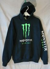 Boys Monster Energy Logo Front Pullover Hooded Sweater Hoodie Age 13-14 Years