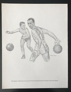 BOB COUSY Print by Robert Riger -Equitable Life 1960s Sports HOF Series