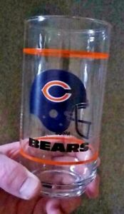 Chicago Bears 1980's Mobil Promotional Glass