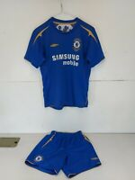 Chelsea FC Umbro Home Shirt & Shorts 2005/06 100 Years Centenary Large Boys