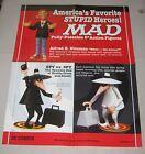 "1998 MAD Action Figure Dealer Promo Poster 17"" x 22"" DC Comics"
