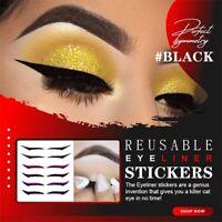1/6PCS Reusable Eyeliner Stickers Makeup Eyeshadow Face Cat Eye Smokey Cosmetic