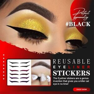 NEW 20pcs Reusable Makeup Eyeliner Eyeshadow Fashion Stickers