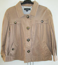 Ladies Luca & Marc Size M Button Front Top Jacket Long Sleeve Casual Smock