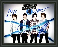 5SOS - Five Seconds Of Summer - Band -  Signed A4 Photo Poster - FREE POSTAGE