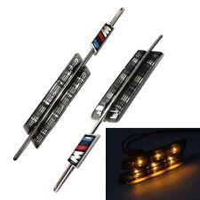 Light 6-LED Silver Smoked Side Marker Amber Lamps For BMW E81 E88 E90 E92 E60